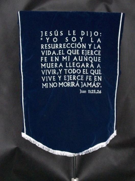 1020-Estandarte bordado para Evangelistas o para Testigos de Jehová