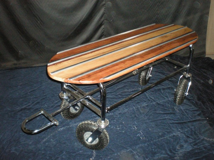 15016 Carro fuelle ruedas inflables con madera