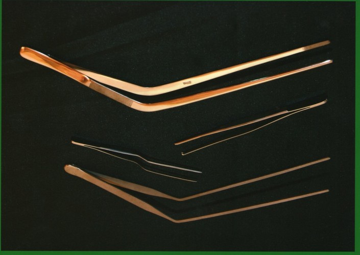 22205 - Pinza bayoneta taponado corta / 22242 - Pinza diente de ratón coker o cocher / 22241 - Pinza de drenaje larga cg importada
