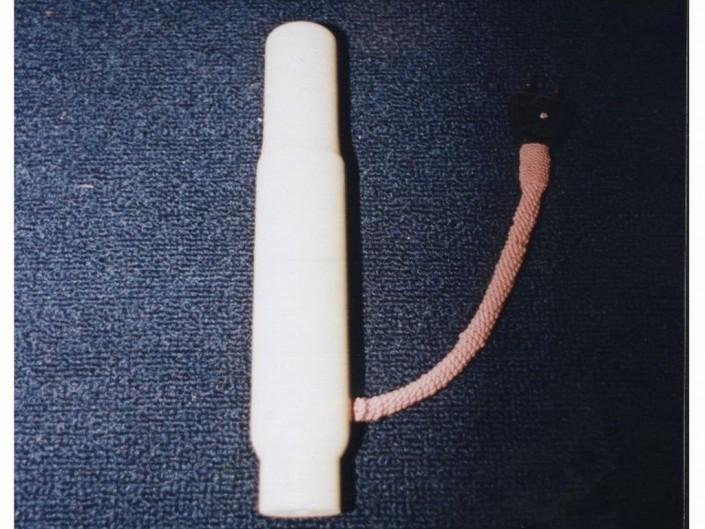 12001 - Vela de madera chicote color cordón
